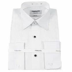 Female Semi-Formal Stud Cotton Men Shirt