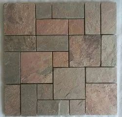 Wall Cladding Stone Slate Mosaic Tile, Thickness: 8 - 10 mm, Size: 30x30cm