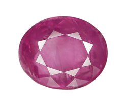 Oval Cut Eye Clean Burma Ruby Gemstone