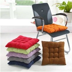 Cotton Solid Woven Chair Pads
