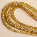 Yellow Diamond Faceted Beads Necklace, Packaging Type: Box