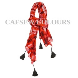 Cotton Silk Designer Scarves