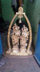 4 Feet Beautiful Brass Radha Krishna  With Arch
