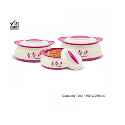 Belleza 3 PC Set Insulated Casseroles