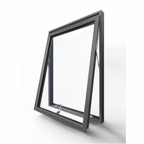 Black Aluminium Top Hung Window, Size/Dimension: 2.5feet(height)