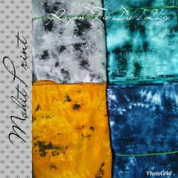 Printed Rayon Tie And Die Fabric
