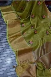 Mahapar Tissue Temple Embroidered Sarees