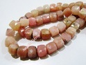 Genuine Pink Opal Cube Shape Beads