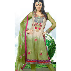 Casual Wear Full Sleeve Embroidered Salwar Kameez, Size: M And XL