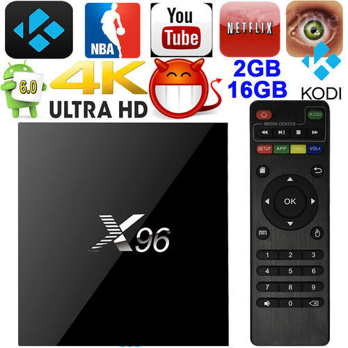 04905bb6865eb X96 Android TV BOX 2GB 16GB Amlogic S905X Android 6.0 at Rs 3899 ...