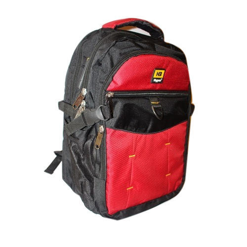 15bf936f778e Red And Black Polyester School Bag