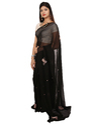Black Casual Wear Printed Saree