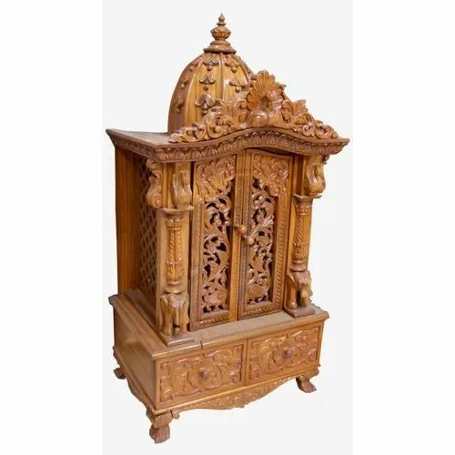 Temple Texas Traditional Home: Traditional Teak Wood Designer Wooden Temple, For Home, Rs