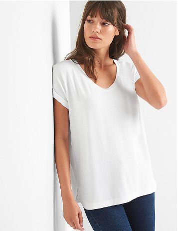 808f9567 Women GAP Softspun Roll Sleeve Tee, Size: XL, Rs 1620 /piece | ID ...