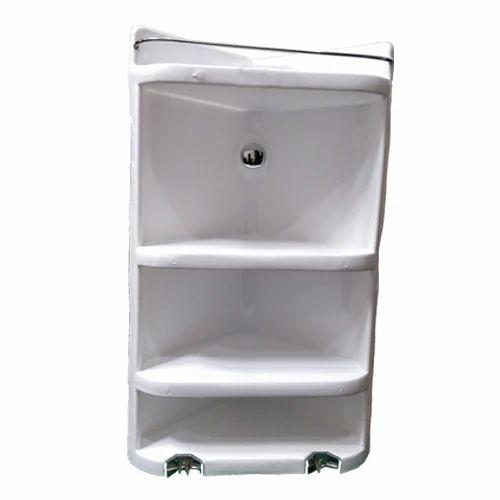 Waterking White Plastic Bathroom Corner Shelf, Rs 509 /piece   ID ...