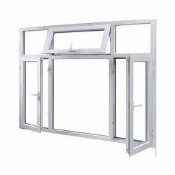 Rectangular White OPENABLE Casement Aluminium Window Frame