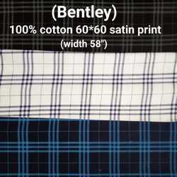 Satin Print Shirting Fabric (Bentley)