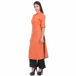 Half Sleeve Large and Medium Ladies Cotton Kurti