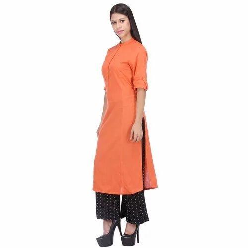 d5a1c0ece0 Half Sleeve Large And Medium Ladies Cotton Kurti, Rs 400 /piece   ID ...