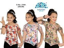 MAHERI Sleeveless Girls Tops, Age Group: 4-14 Years