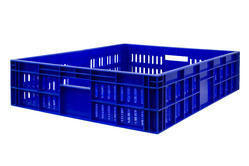 Square Polystyrene Plastic Vegetable Crates