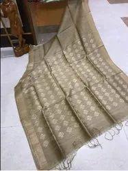 Bhagalpuri  Linen Silk Jacquard Saree