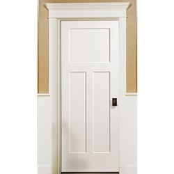 Exterior Polished Wooden Panel Door, for Home