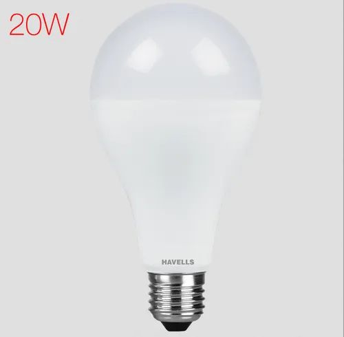 Warm White Havells Adore LED 20 W Bulb, Base Type: B22