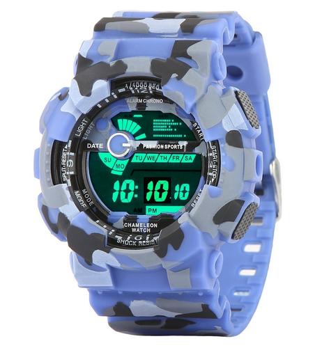 f7bb5f1f6 Shyamajoo Fashion Multicolor Dial Military Army Blue Strap Digital sports  Watch For Mens & Boys(