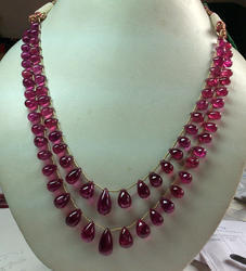 Natural Pink Tourmaline Smooth Plain Drops