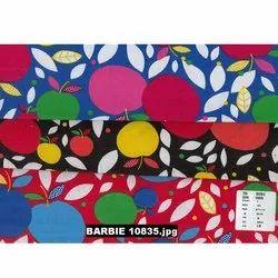 Barbie Apple Printed Fabrics, For Garment,Apparel and Dress, GSM: 142 GSM