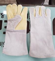 Kevlar Palm Half Leather Hand Gloves