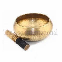 Hammered finish bronze tibetan Singing Bowl