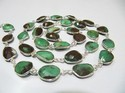 AAA Quality Natural Chrysoprase Connector Chain 12-15mm size
