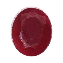 Indian Dyed Ruby Oval Shape Normal Cut Gemstones