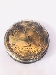 Brass Antique Maritime Magnetic Compass - Statue Of Liberty (1870) - 3 inches