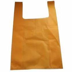 Plain Mustard Yellow Non Woven U Cut Bag for Shopping