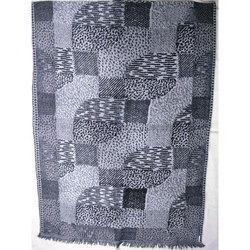 Wool Yarn Dyed Jacquard Shawls