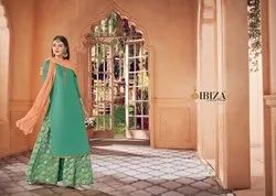 Taskeen Traditional Pure Upada Silk With Embroidery And Banarasi Designer Palazzo Suits