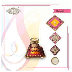 LED Rangoli with Candle