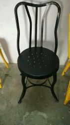 Powder Coated Wrought Iron Chair, For Outdoor, Size: 18 Inch