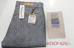 Hanex check cotton trousers