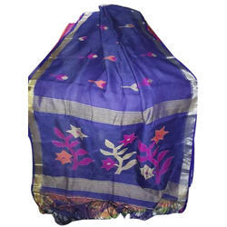 Colored Jamdani Linen Saree