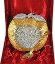 Wedding Gift Apple Shaped Silver and Gold Plated Bowl Set