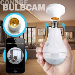 Wireless CCTV Camera And Smart LED Bulb With Bulb Holder