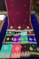 Silk Heavy Embroidered Sarees