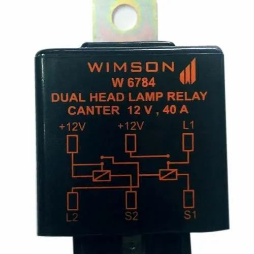 Wimson Dual Head Lamp Relay For Canter  For Eicher Center