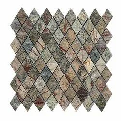 Capstona Stone Mosaics Diamond Green Forest Tiles