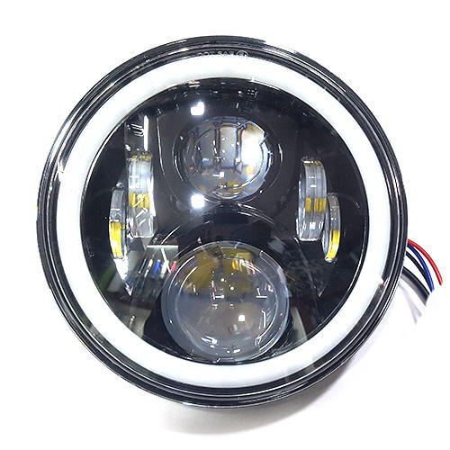 Led Headlights For Cars >> Xtremz 7 Inch Led Headlight With Bluetooth Rgb Mode For Royal Enfield Universal Bikes Cars