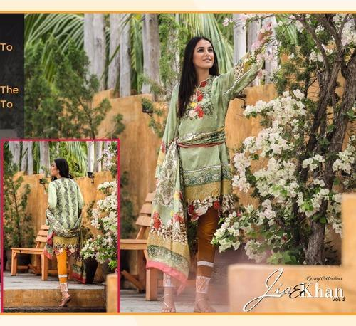 a7a4006c11 Chiffon Printed Indian Lawn Suits, Size: L, Rs 1650 /piece | ID ...